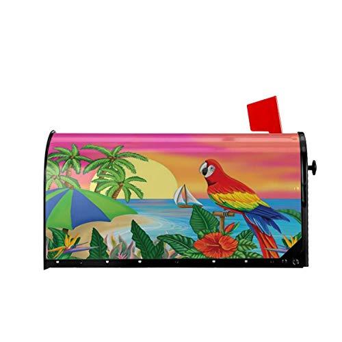 Foruidea Paradise Parrot Summer Mailbox Covers Magnetic Mailbox Wraps Post Letter Box Cover Standard Oversize 21 X 18 Mailwrap Garden Home Decor