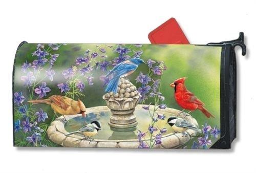 MailWraps Bird Bath Gathering Mailbox Cover 01330