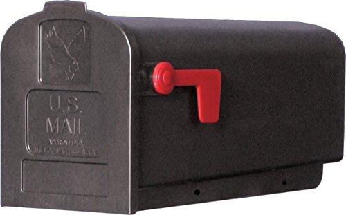 Solar Group Pl10b0201 Parson Standard Black Plastic Rural Curbside Mailbox