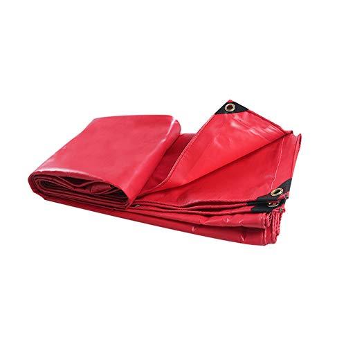 Heavy Duty Weatherproof Tarpaulin Pvc Pool Cover Canopies Car Covers Tarp Sheet Anti-uv Rip-stop Tarps For Camping Fishing Gardening And Pets WZLJW-red 3x4m