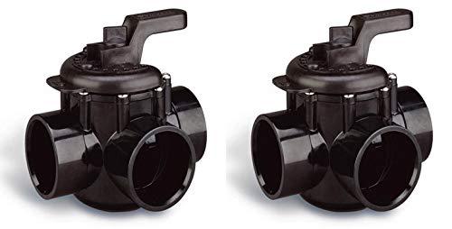 Pentair 263028 Pool 3-Way Plumbing PVC No Lube Diverter Valves 2 x 25 2-Pack