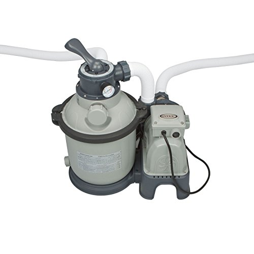 Intex Krystal Clear Sand Filter Pump For Above Ground Pools 1200 Gph Pump Flow Rate 110-120v With Gfci