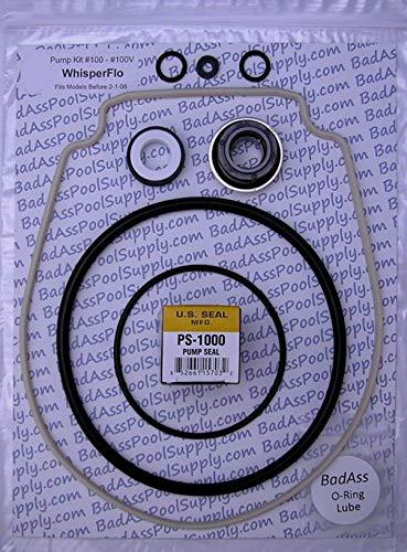 BadAss Pool Supply O-Ring Rebuild Repair Kit for Pentair WhisperFlo IntelliFlo Almond Gasket fits Years 1198 Thru 108 Kit 32