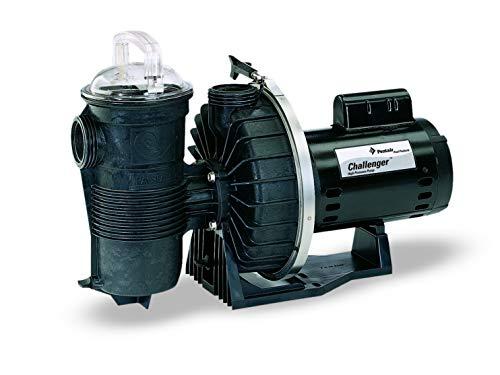 Pentair 342234 Stainless Steel Black Challenger High Flow Single Speed Pool Pump 1-Horsepower