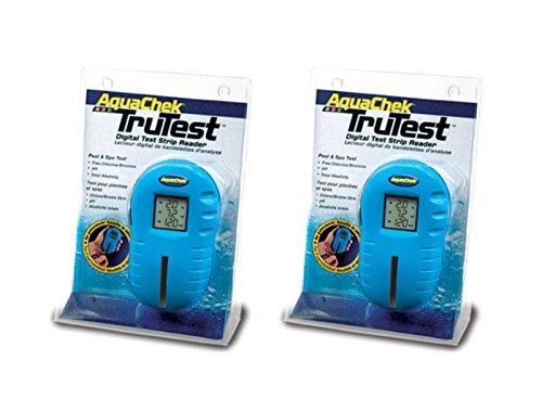 AquaChek 2 2510400 Trutest Digital Pool Spa Test Strip Readers Meter - Two Pack