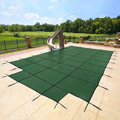 Yard Guard Deck Lock Rectangle Mesh 16x32 Inground Swimming Pool Safety Cover