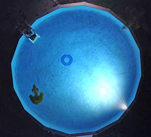 Nitelighter Multicolored Pool Light - Illuminates Aboveground Swimming Pools Underwater Lighting Easy to Install Under the Top Rail ETL Listed Pool Light Fixture NA411