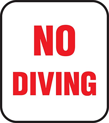 No Diving Pool Safety Sign - Non-Skid Ceramic