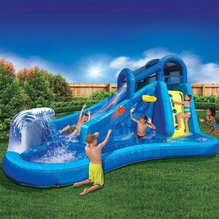 Best Outdoor Inflatable Waterslide for Kids  Banzai Surf N Splash Water Park