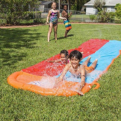Bestway Go Slider Kids 18 Ft Outdoor Water Slide with Splash Lagoon for Big-Splash-Take-Off Double Slider - 18 Ft Long
