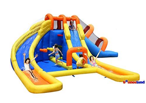 Double Deluxe Premium Heavy Duty Hot Summer Fun Outdoorr Big Splash Dual Water Slides Park Kids Children Backyard Home Pool Party