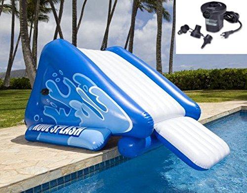 New Shop INTEX Kool Splash Inflatable Swimming Pool Water Slide  Quick Fill Air Pump