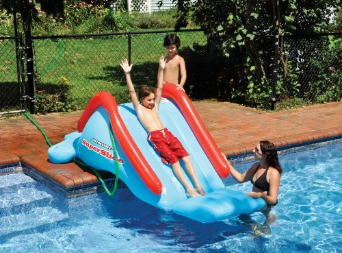 Swimline 90809 Inflatable Super Water Slide For Kids Side Of Swimming Pool Slide Model  Homegardenamp Outdoor
