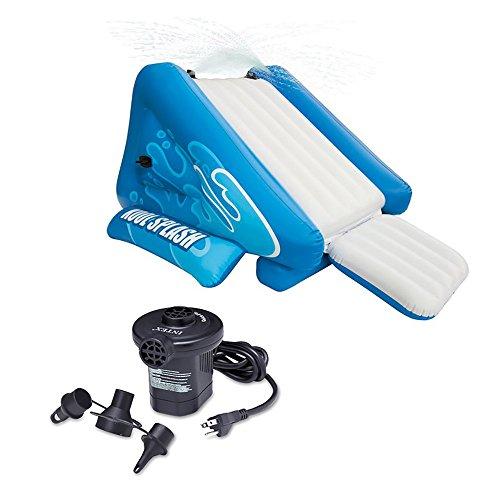 Intex Kool Splash Inflatable Swimming Pool Water Slide  Quick Fill Air Pump