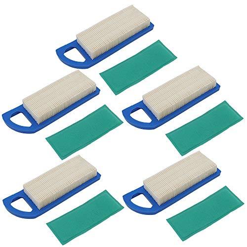 FLYPIG 5 Pack 697153 Air Filter Pre-Filter for Briggs Stratton 286H77-0121 LT1200 3000 Husqvarna 578 45 12-02 Craftsman 33425 John Deere Z225 John Deere L100 L105 L107 L108 698083 794422 795115