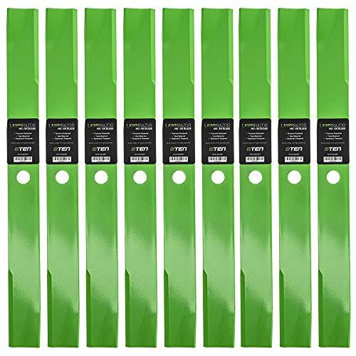 8TEN LawnRAZOR Hi Lift Blade for John Deere Lesco 60 Inch Deck 261 400 420 430 AM35557 M112847 M48452 050350 9 Pack