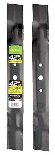 Maxpower 561806 2-Blade Set for 42 Cut John Deere GX20249 GX20433 GY20567