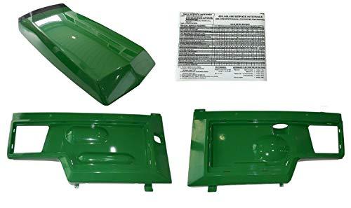 R&DOG HoodSide Panels Replace AM128986 AM128983 AM128982 for John Deere 425 445 455