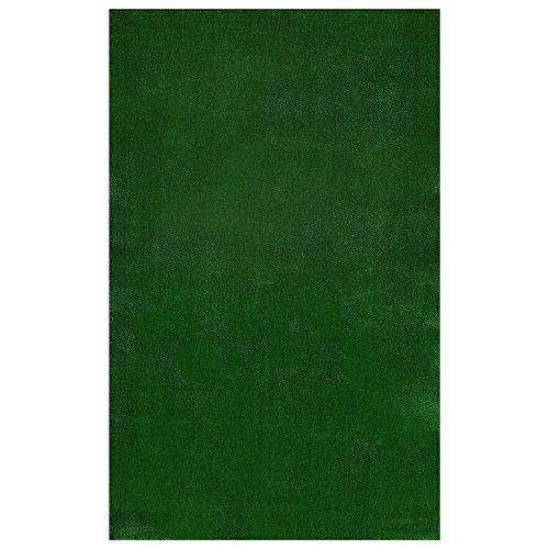 Ottomanson Evergreen Collection Indooroutdoor Green Artificial Grass Turf Solid Design Runner Rug 60&quot X 73&quot