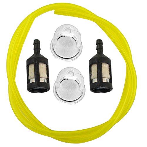 HIPA Primer Bulb  Fuel Filter  Fue Line for Homelite BP250 HB180 HB18V GST GST18 GSTBC HBC18 HBC30 HBC30B HGT HLT15 HLT16 HLT17C HLT18 HLT28 HT17 HT19 ST155 ST175 ST175G ST185 ST275 String Trimmer Blower