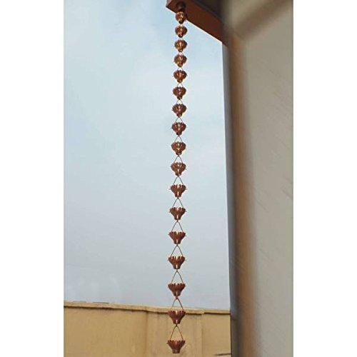 Zinnia Rain Cup Chain 85-feet