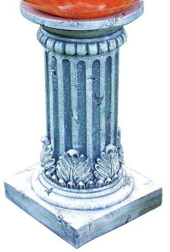 Echo Valley 9176 Tirreno Resin Pedestal Column for Gazing Globe or Sundial