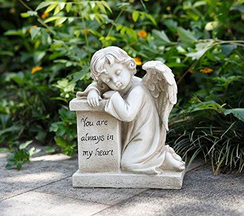 Napco 11295 Cherub Resting On Pedestal Garden Statue 105&quot