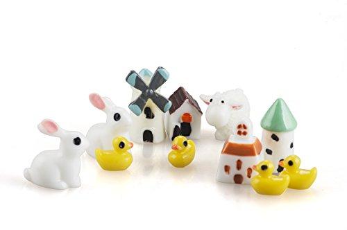 Incredible Art 11pcs Fairy Garden Animal House Miniature Ornament Diy Kit