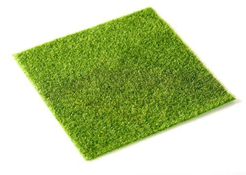 SUN-E 2 Pcs Life-like Fairy Artificial Grass 12x 12 Miniature Ornament Garden Dollhouse