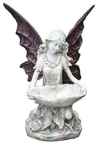 Napco 11280 Fairy Bird Feeder Garden Statue 12
