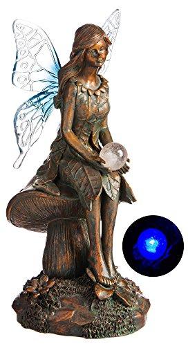 New Creative Bluebell Solar Globe Garden Fairy Statue