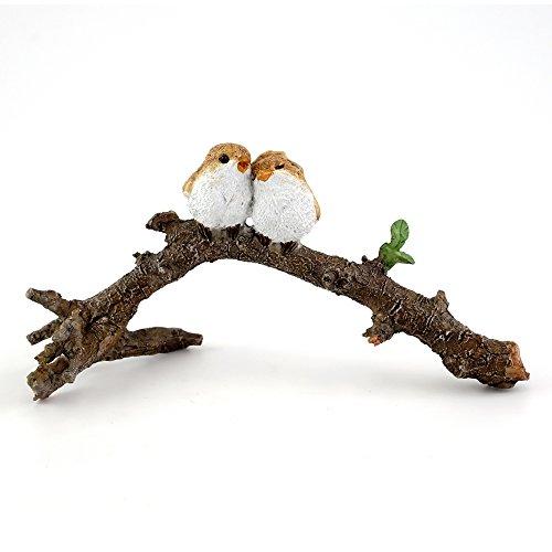 Top Collection 4404 Miniature Fairy Gardenamp Terrarium Lover Birds On Branch Statue Small