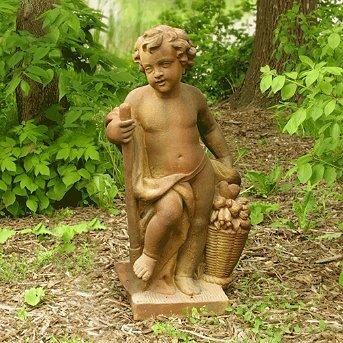 Harvest Cherub Garden Statue   Yard Art As Sold By Frontgate