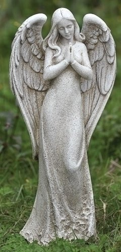1475&quot Josephs Studio Sleek Contempo Praying Angel Outdoor Garden Statue