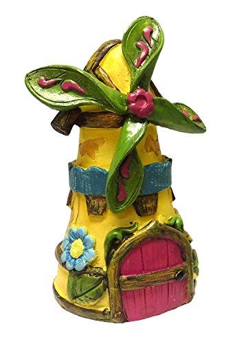 Fairytale Miniatue Fairy Garden Windmill Statue Mini Dollhouse Figurine Accessory