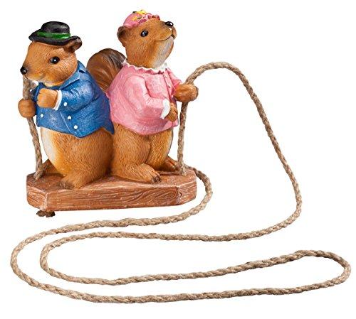 Miles Kimball Swinging Squirrels Garden Figurine