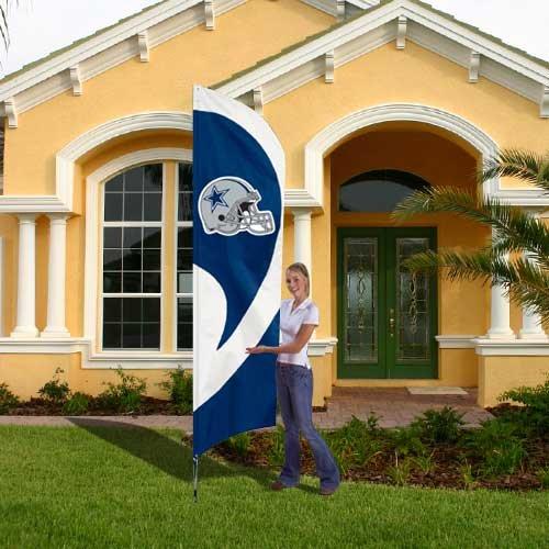 Party Animal Nfl Tall Team Flag With Pole Dallas Cowboys