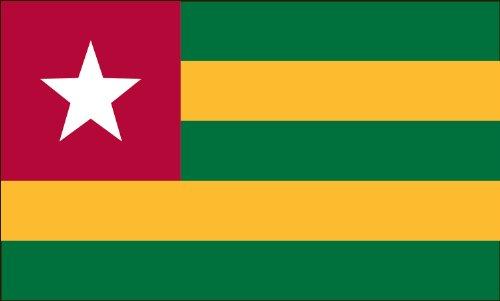 Americas Flag Company FF2X3NTOG1 2-Foot by 3-Foot Nylon Togo Flag
