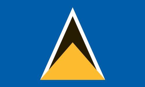Americas Flag Company FF4X6NSTL1 4-Foot by 6-Foot Nylon Saint Lucia Flag