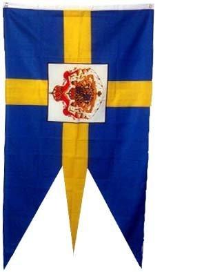 Ruffin Flag Company Sweden Royal Flag Swedish Royalty Banner Pennant New 3x5 Foot