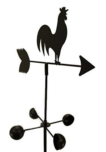 EDMBG Weather Vane Rooster 6 Feet Tall Black Garden Mount Yard Decor