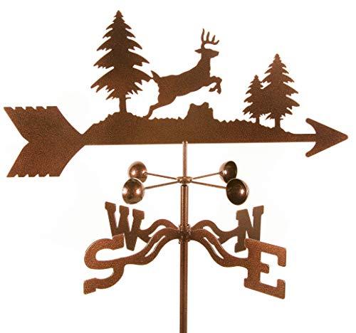EZ Vane Deer Jumping Weathervane 21 Inch Wide Garden Stake