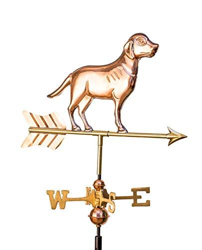 East Coast Weathervanes and Cupolas Garden Lab Weathervane Polished Copper Copper W Garden Pole