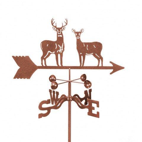 EZ Vane EZ1308-4S Standing Deer Weathervane with Four Sided Mount