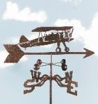 Bi-Wing Plane Garden Stake Weathervane