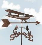 Hi-Wing Plane Garden Stake Weathervane