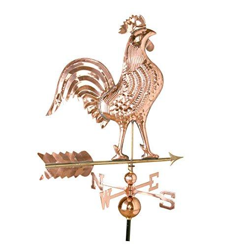 27 Weathervane Rooster Polished Copper  Renovators Supply