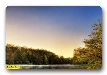 Homelover Standard-store Peaceful Sunset Yellow Tree Scenery Doormat Welcome Entryway Door Mats Indooroutdoors