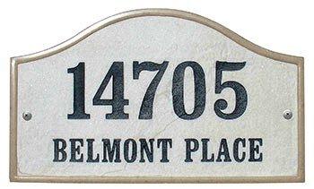 Qualarc Inc Crushed Stone Address Plaque Verona Serpentine Sandstone Ver-4603-ss