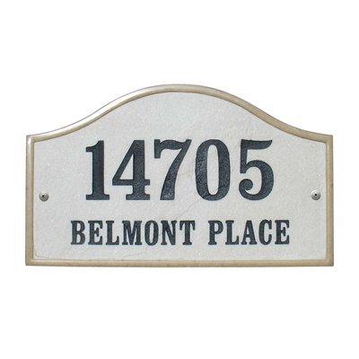 Qualarc Inc Crushed Stone Address Plaque Verona Serpentine Slate Ver-4603-sl